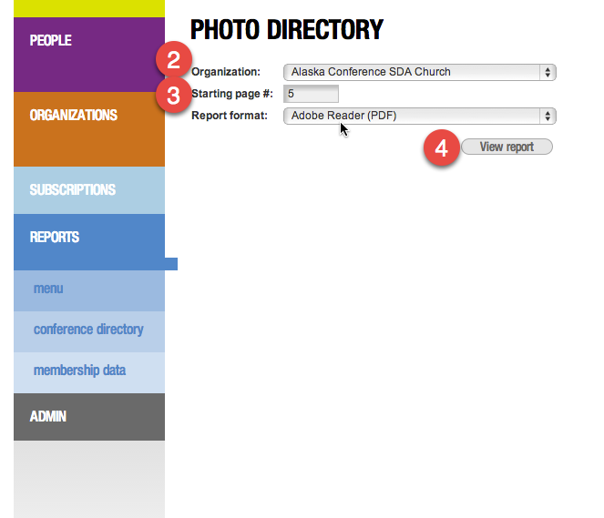 Photo Directory PAge