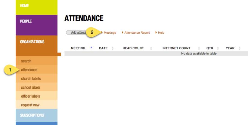 Attendance-Meetings links